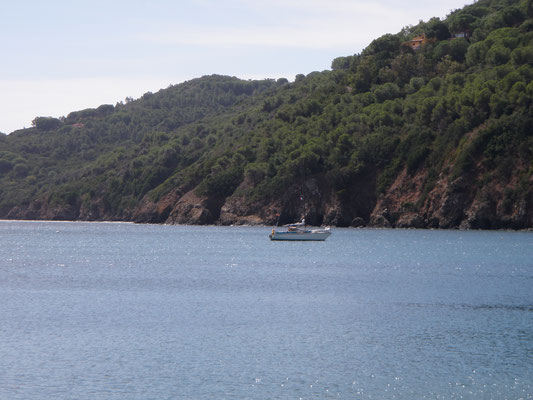 hiding in Golfo Stella, waiting for the Mistral to calm down