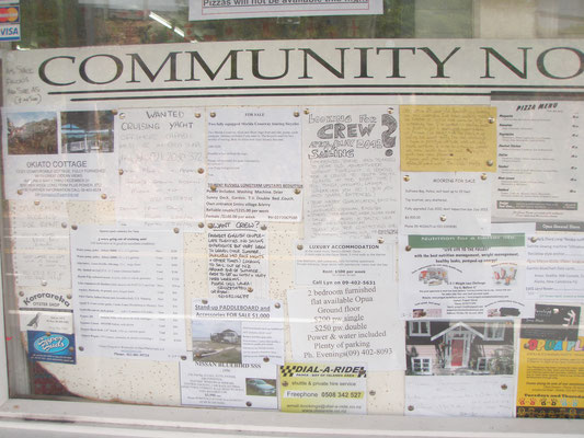 Opua Marina message board: Guess which was my message