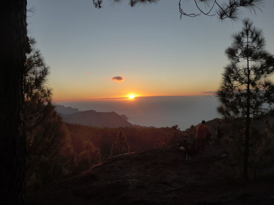 ...with beautiful sunset view. In the background: Teneriffa island and its Teide