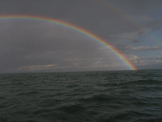 But also a fantastic rainbow from the German....