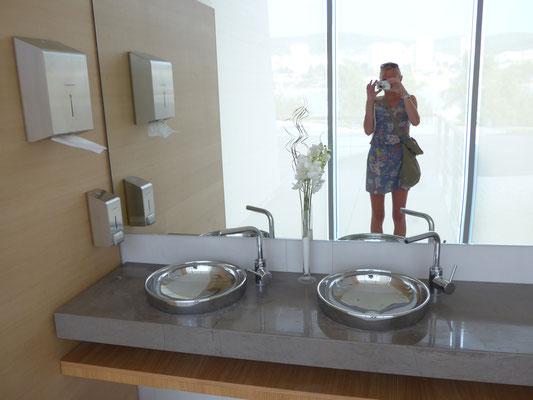 Inside Mandalina D Resort's women's toilette