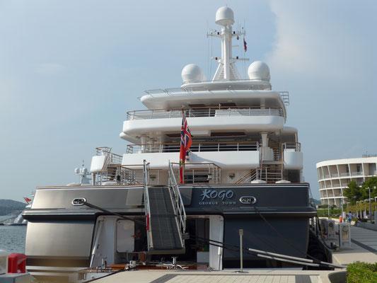 ...huge mega yachts,...