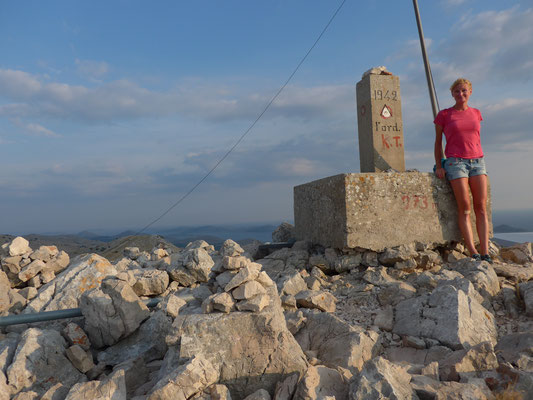 237m, highest hill on Kornat island