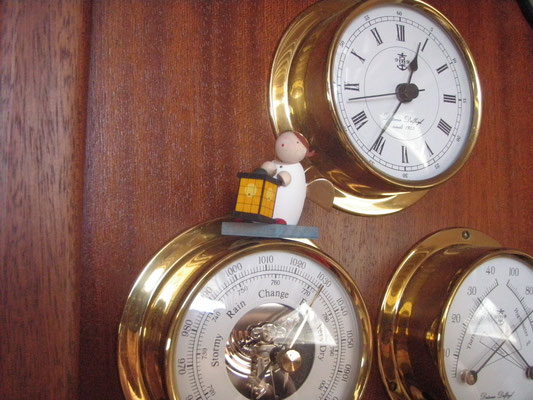 """My little protection angel """"Lolo"""" on the barometer"""
