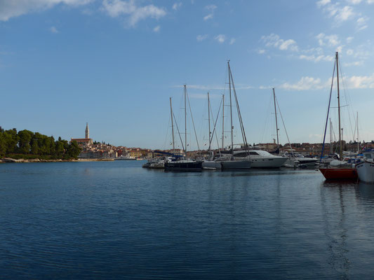 ...before moving into Rovinj marina...