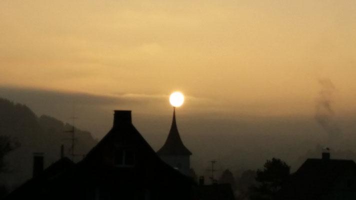 Sonnenaufgang über Lenzkirch