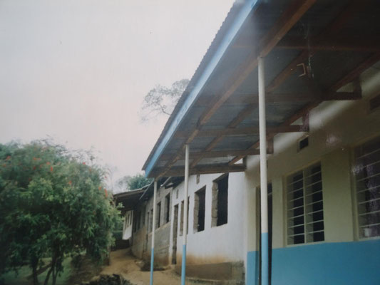 Veranda of the left wing classrooms.