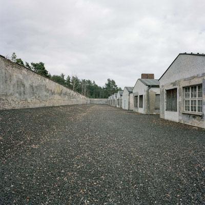 Ravensbrück - Lagermauer mit Schneiderei