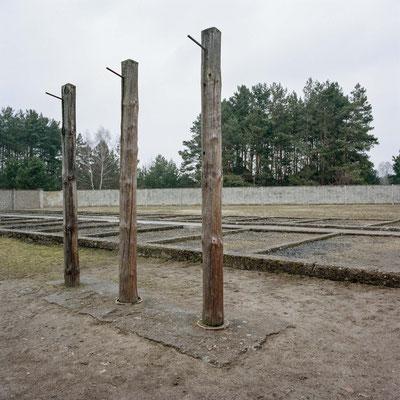 Sachsenhausen - Galgen auf Gelände des Zellenbaus