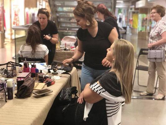 Maquilladora de eventos Zaragoza. centro comercial independencia