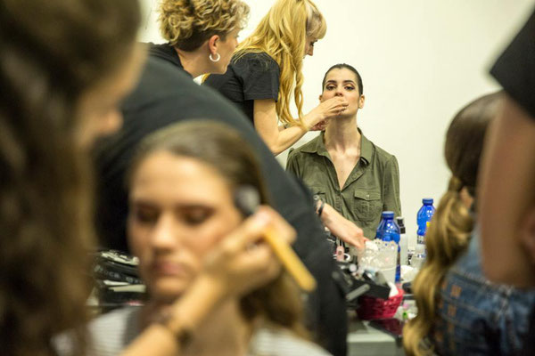 maquillaje y peluquería de moda para pasarela Aragón fashion week