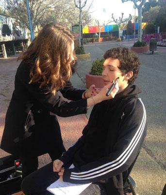 maquilladora para audivisuales, programa de televisión El gran puzzle