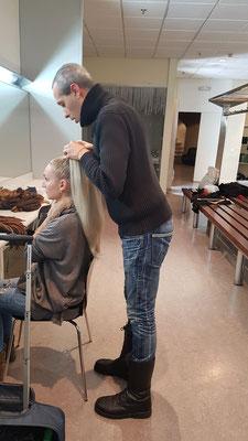 Maquillaje y peluquería para  musical music has no limits Zaragoza