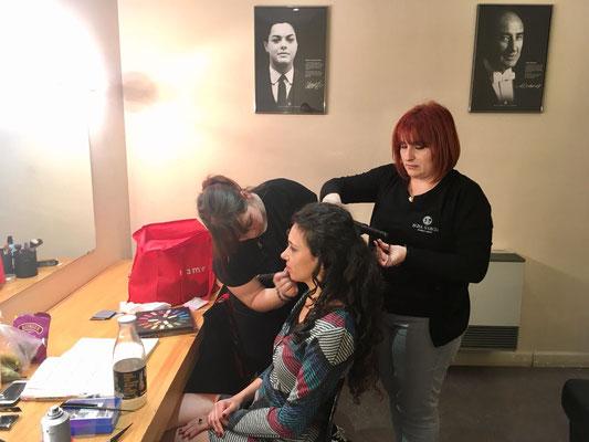 Maquilladora para opera Carmen, maquilladora profesional Zaragoza.