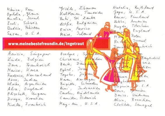 """Projekt """"Künstler gegen Ausländerfeindlichkeit"""" in Büderich bei Düsseldorf, Plakatwand 3,50 m x 5,00 m  Plakatdruck nach eigenem Entwurf"""