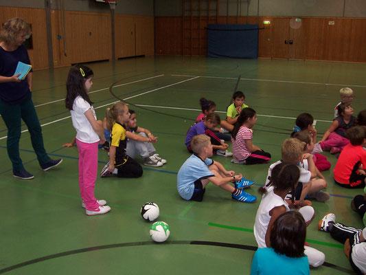 Handballtag in der Sporthalle