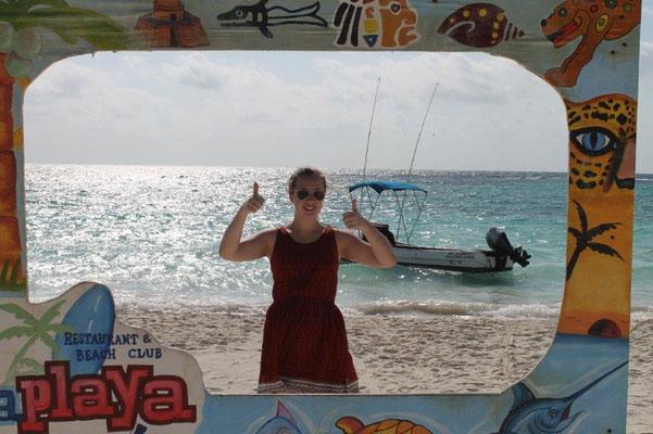 Melina am Strand von Xpu-Ha