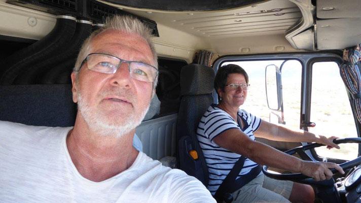 Eine Truckerin unterwegs