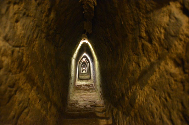 In the tunnel of the pyramide