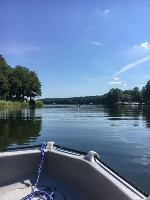 Boat tour at the Mecklenburg Lake district