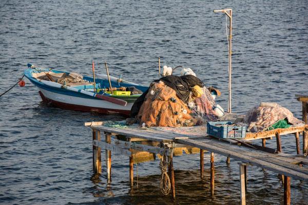 Schöner Übernachtungsplatz bei den Fischern