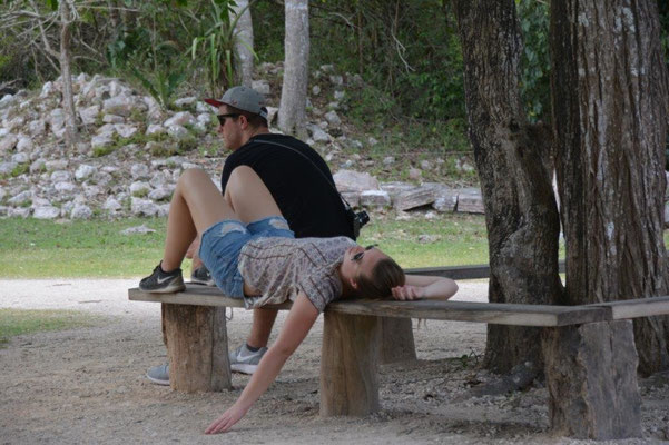 Chitchen Itza - völlig erschöpft