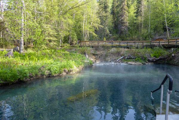 Unterwegs auf dem Alaska Highway, Liard Hotsprings