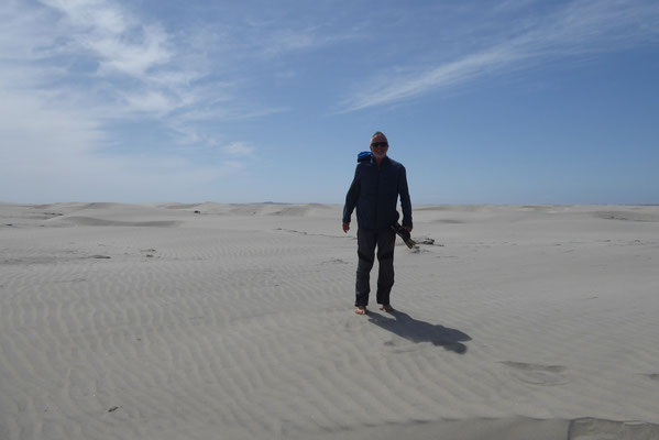 Strong wind and a lot of sand in San Quintin