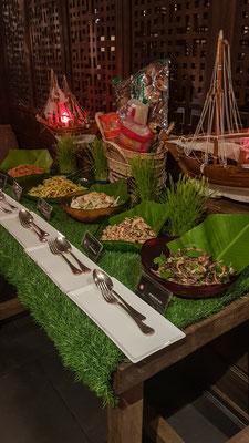 Asiatisches Buffet im Crown Plaza Hotel
