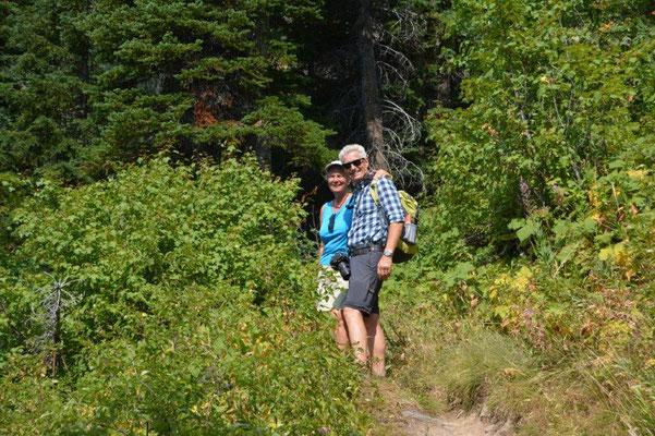 Wanderung zum Goat Lake mit Elisabeth und Kurt