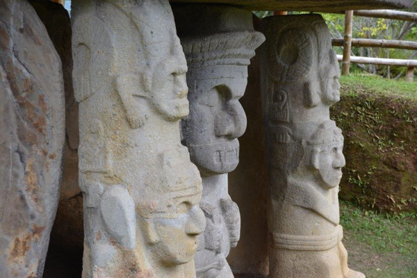 Stone statues in San Augustin