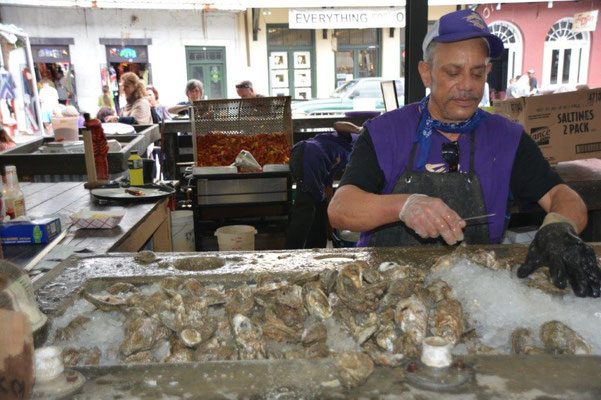 New Orleans - French Market, Austern