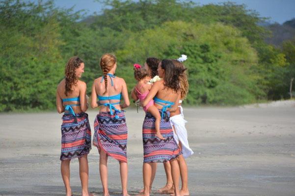 Brautjungfern für die Surfer Hochzeit