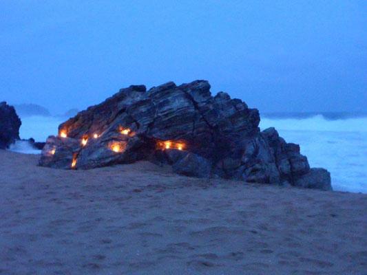Abends am Strand von Zipolite