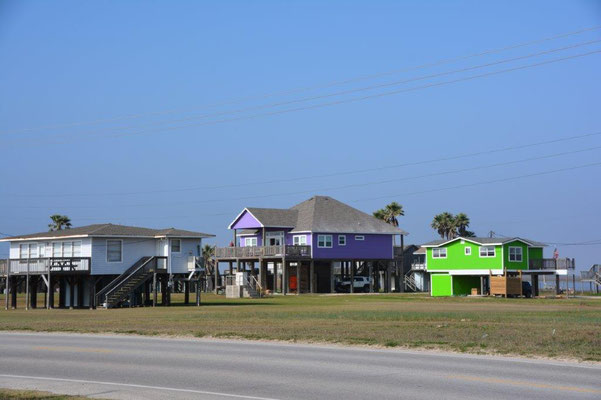 Am Strand von Galveston