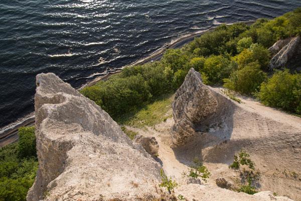 The famous chalk cliffs of Rügen