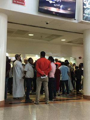 Waiting for the Visa at Oman Border