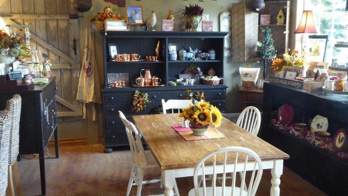 Manchmal findet man auch was stilvolles in USA, Kaffeehaus in Florence in Oregon