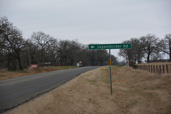 a road with my family name, seen in Hillcountry