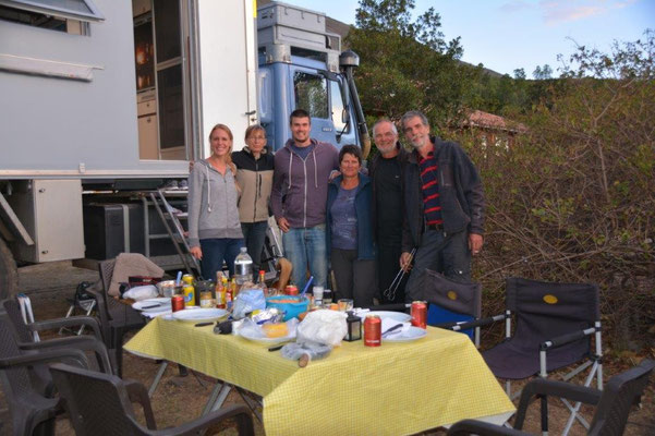fare well party in Villa de Leyva, Sabine, Andy, Petra, Stefan Manfred, Karin