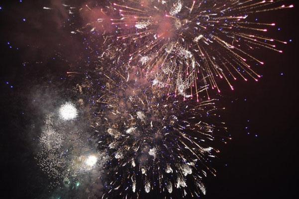Mit anschliessendem Feuerwerk