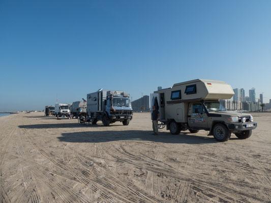 Am Sharjah Strand wurden wir vertrieben