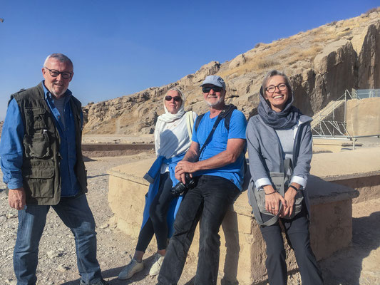 Wiedersehen mit Heike & Bernd in Persepolis