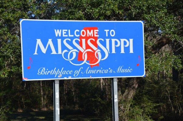 Und schon sind wir in Mississippi