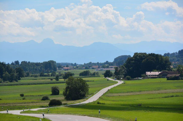 View to the alps. This is where we live when we at home.