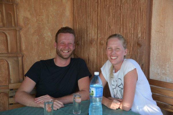 Auf unserer Dachterasse mit Daniela & Enno