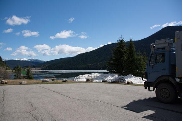 auf dem Weg zurück von den Bowron Lakes