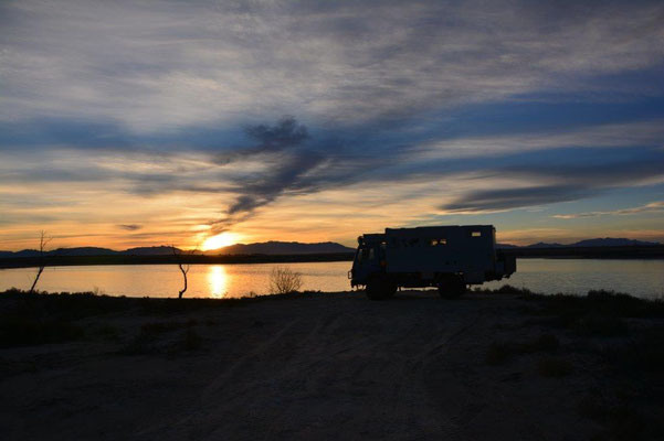Campsite at Holloman lake