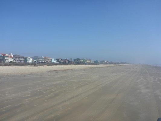 Endless beaches around  Galveston in Texas