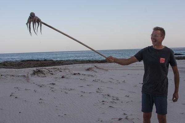 Reinhard fängt einen Octopuss / Reinhard catches an Octopus